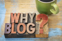 Why blog question in wood type