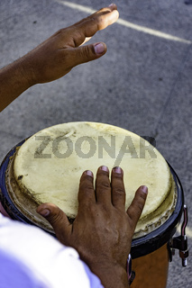 Drum player samba performace