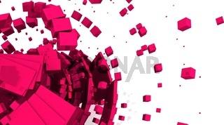 Fliegende Würfel Pink 02