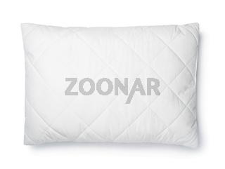 Top view of white cotton pillow
