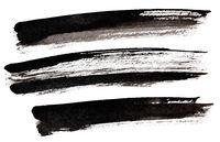 Long black brush strokes