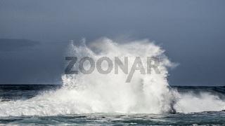 Wave Crashing at Storms River Mouth