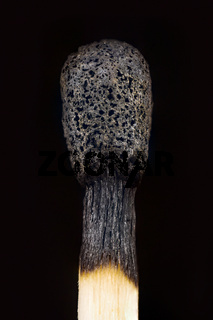 burnt wooden match