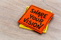 share your vision reminder note