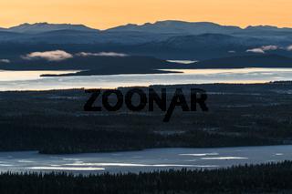 Abendstimmung, Stora Lulevatten, Lappland