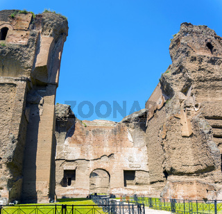Baths of Caracalla, ancient ruins of roman public thermae