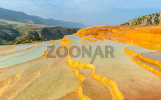 Badab-e Surt travertine terrace