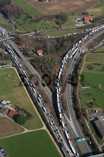 Autobahnstau auf der Schweizer Autobahn A3, Verzweigung Augst