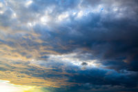 Dramatic sky with clouds