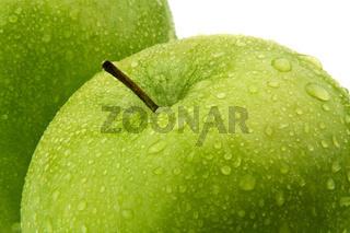Grüner Apfel. Obst für Vitamine.