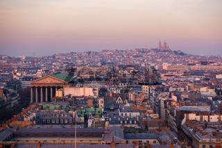 Paris aerial view, France