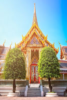 Golden entrance to the beautiful Buddhist temple