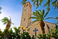 Kastel Sucurac church and mediterranean nature view