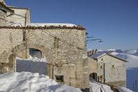 Snowy Castelluccio in the Monti Sibillini