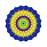 Abstract radial pattern