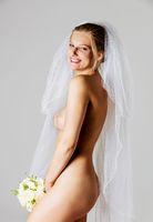 Beautiful nude bride in wedding veil