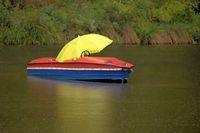 pedal boat in autumn