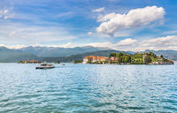 Beautiful lake Maggiore with alps. Italy
