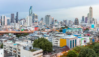 Bangkok Skyline Sunset Panorama