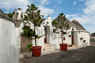 Typical beautiful Trulli houses in Alberobello, Puglia, Italy