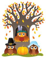 Thanksgiving owls thematic image 5
