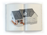 Draft of the house. Concept of  magazine of construction, architecture and design .
