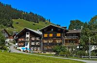Safien Platz, Safiental, Safien Valley, Surselva, Grisons, Switzerland