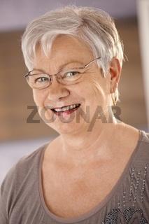 Portrait of senior woman wearing glasses