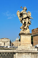 Statue of Angel at the Castel Sant'Angelo in Rome,