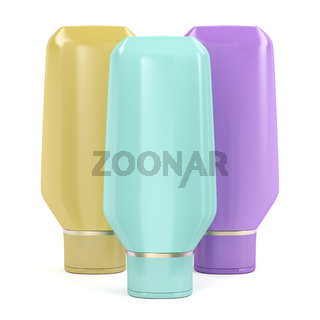 Plastic bottles for cosmetic products