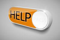 a dash button to order help