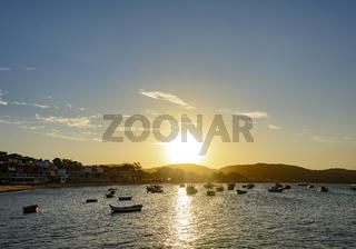 Sunset at Buzios city