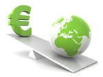 balance - earth and euro