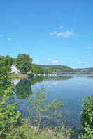 at Listertalsperre Reservoir in Sauerland,North Rhine Westphalia,Germany