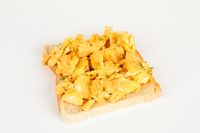 bread with scrambled egg