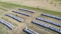hay bales in Nebraska Sandhills