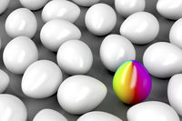 Unique colorful egg