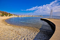 Lungomare famous waterfront walkway in Opatija beach view