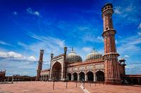 Jama Masjid muslim mosque in India. Delhi, India
