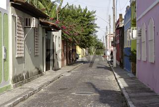 Gasse in Canavieiras, Bahia, Brasilien, Südamerika