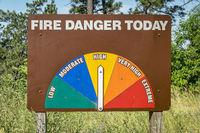 high fire danger roadside sign in Nebraska