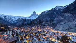 Matterhorn and Zermatt view