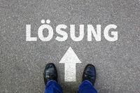 Lösung finden für Problem lösen Konflikt Erfolg Business Konzept Businessman