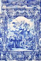 Traditional portuguese tilework azulejo