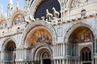 decorated portal of St Mark's Basilica in Venice