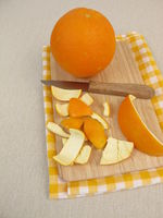 Untreated orange peel
