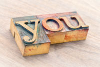 you word abstract in wood type