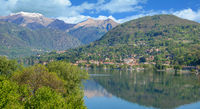 Lake Orta and Village of Pettenasco,Piedmont,Italy