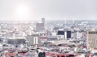 panorama of Berlin with bright sky