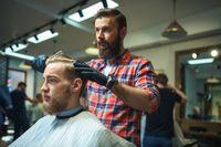 Hipster in barber shop